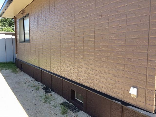 完成した外壁 シリコン塗料