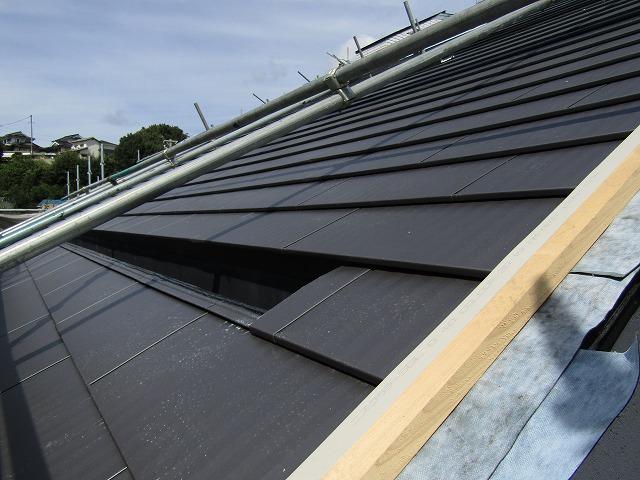ガルバリウム鋼板で施工した屋根