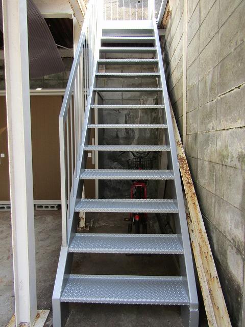 完成した屋外階段