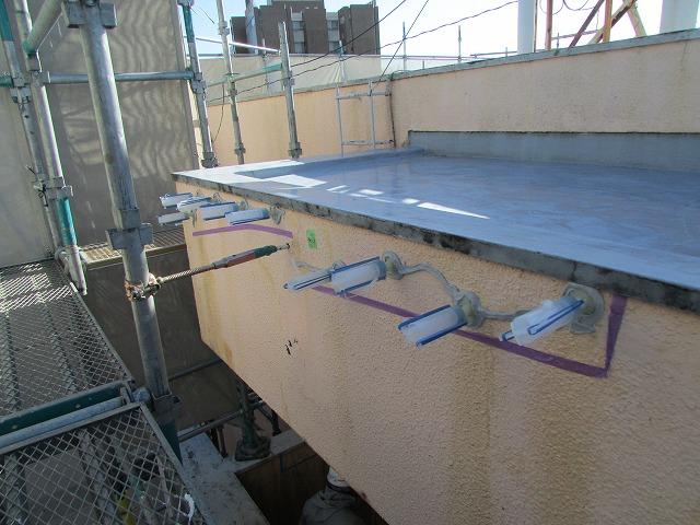 外壁浮き箇所 樹脂注入