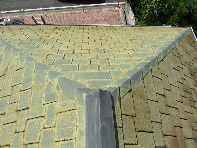 屋根の色抜け