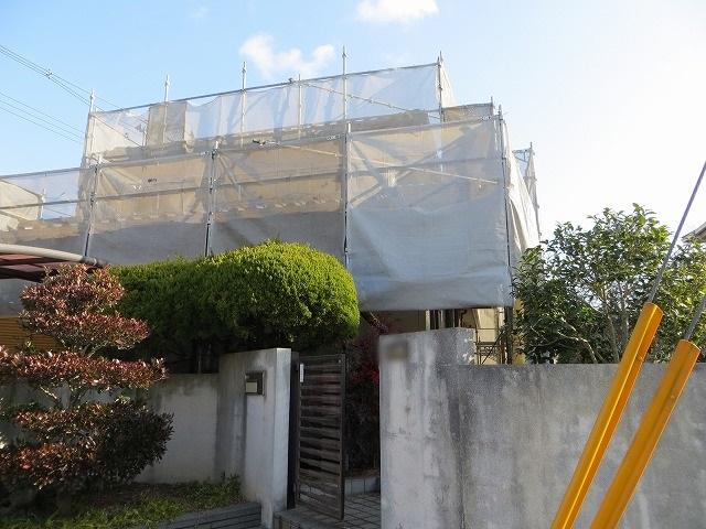 総社市久代 U様邸 外壁クリンマイルドシリコン・塀塗装工事