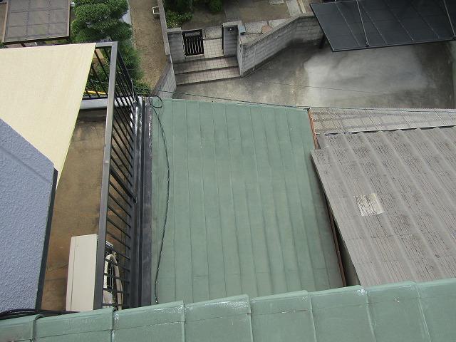 塩ビ被服の屋根