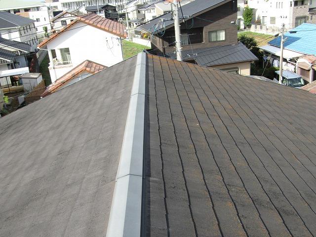 倉敷市四十瀬 屋根フッ素 外壁シリコン塗料 工事進捗状況