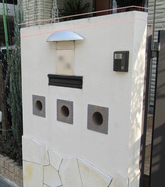 岡山市で塀の塗装 雨スジと剥離防止でガルバリュウム鋼板設置